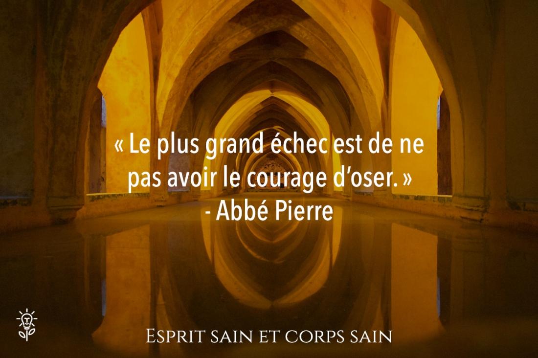citation développement personnel Abbé Pierre
