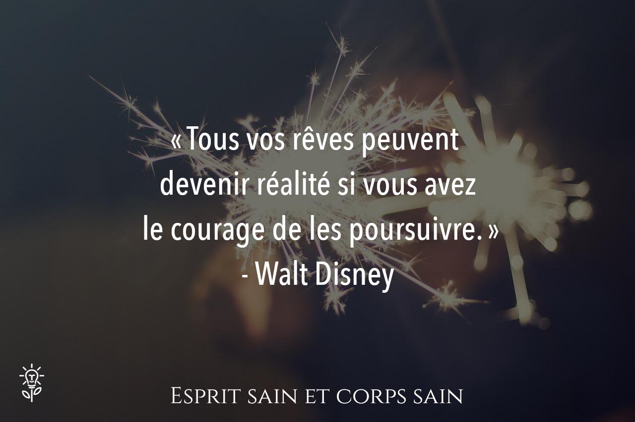 citation de Walt Disney développement personnel